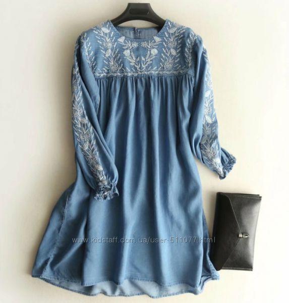 Джинсовые платья длинный рукав