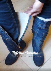Пошив обуви. Джинсовые сапоги зима