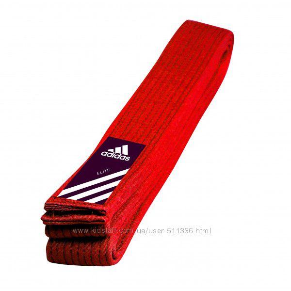 Пояс для единоборств Adidas Elite. Красный.