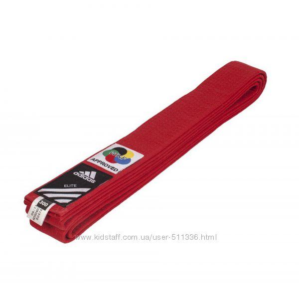 Пояс для Каратэ WKF Adidas Elite. Красный.