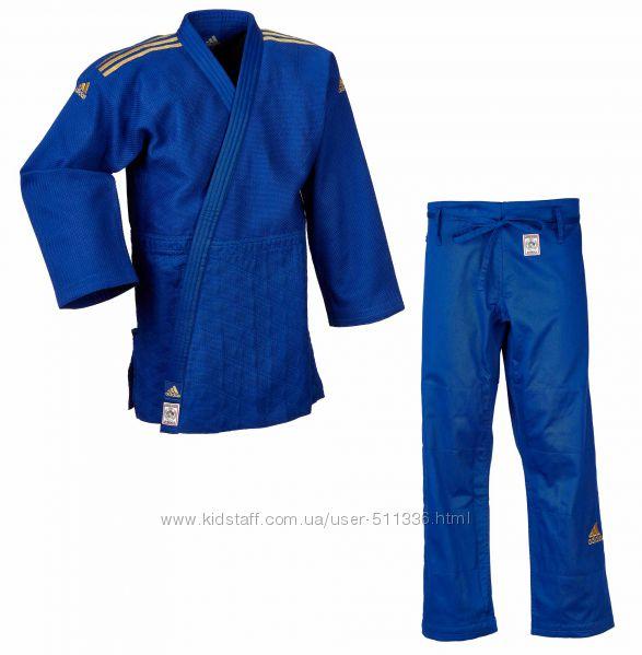 Кимоно Adidas Champion 2 IJF для Дзюдо. Синее.