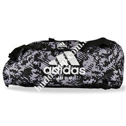 Сумка - рюкзак Adidas Judo Camo. Серый камуфляж.