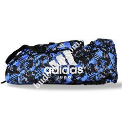 Сумка - рюкзак Adidas Judo Camo. Синий камуфляж.