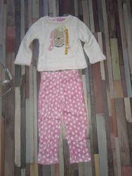 Нежная флисовая пижамка 5-6 лет Англия
