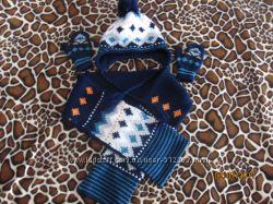 Шапка шарф варежки р. 2-4 года фирма Войчик