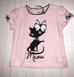 Распродажа -летние футболки, девочка WOJCIK Польша р. 74-98  распродаж