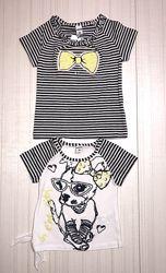 Распродажа-летние футболки, топы для девочки, Польша, Wojcik 92-140