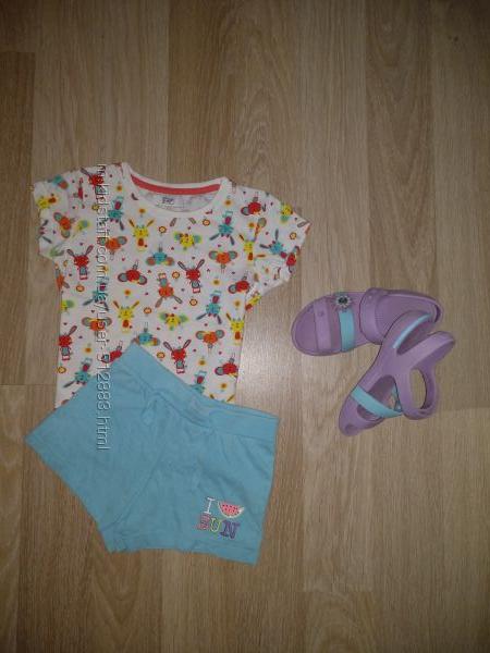 Летний комплект футболка и шорты на 5-6лет