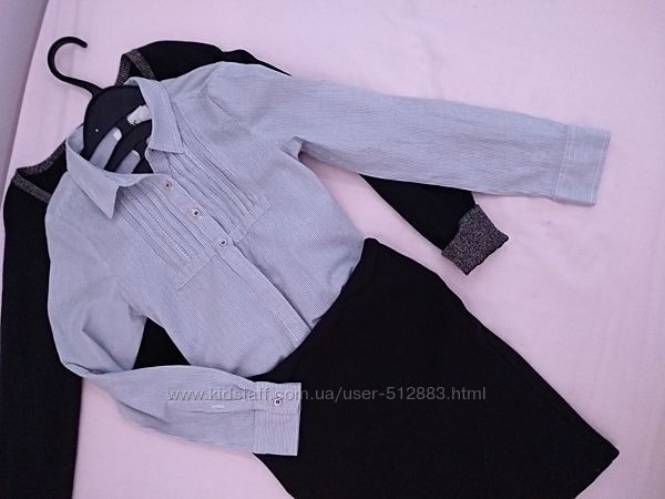 Рубашка блузка в школу H&M на 7-8лет
