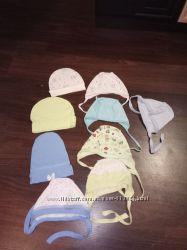 Шапочки, чепчики для новорожденного