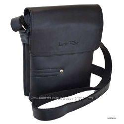 Мужская сумка 25 на 21 черная фабричная Lucherino Луцк