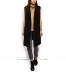 Двубортное пальто жилет New look