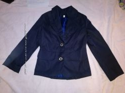 пиджак школьный синий нарядный 110-122 см