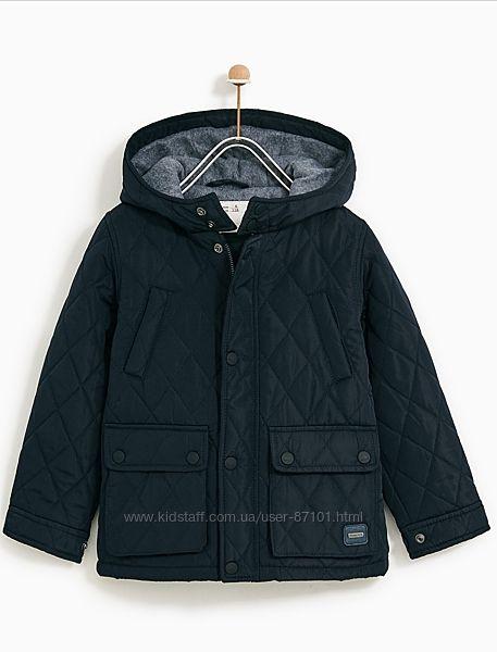 Демисезонная стеганая куртка для мальчика Zara, 140