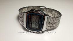 Электронные часы Casio illuminator silver classic стальные в наличии