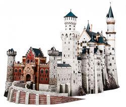 Замок Нойшванштайн. Умная бумага, 3D пазл, конструктор из картона.