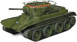 Танк БТ-5, 3D пазл, сборная модель, конструктор из картона.