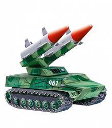 Ракетный комплекс, 3D пазл, сборная модель.