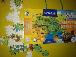 Карта- пазл Умняшка памятки Украины