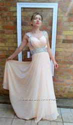 Шикарное платье в пол, вечернее, свадебное, в камнях swarovski.