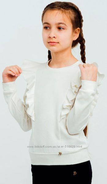 Джемпер свитшот для девочки в школу ТМ Smil
