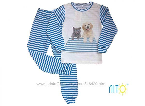 Пижама детская Собака и кот р.86-92.