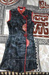 Чонсам или ципао шёлковое платье-халат