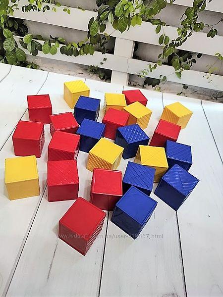 Качественные, пластиковые кубики 24 шт