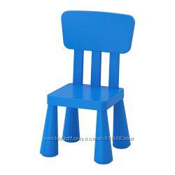Детский стульчик со спинкой IKEA MAMMUT Маммут