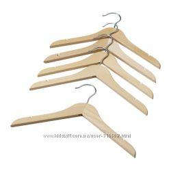 Детские деревянные плечики 5 шт IKEA HANGA 60178769