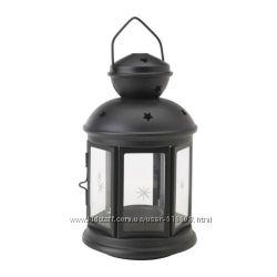 Подвесной фонарь черный и белый для чайных свечей - таблеток IKEA ROTERA