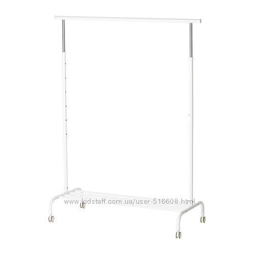 Напольная вешалка для одежды ИКЕА РИГГА IKEA RIGGA белая 50231630