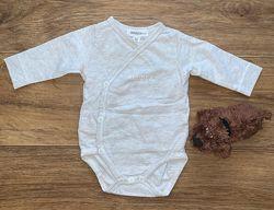 Боди длинный рукав распашное на кнопках для малышей 0-3 мес 50-68 р-р