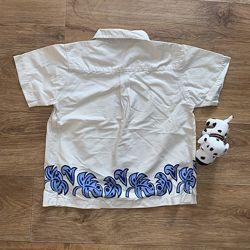 Стильная яркая красивая рубашка на 3-5 лет