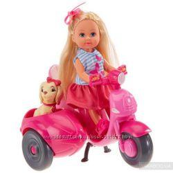 Кукла Simba Еви Прогулка на скутере с собачкой 5736584