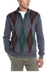 Свитер IZOD Long Sleeve Zip Fine Gauge Stretched Diamond Sweater XL