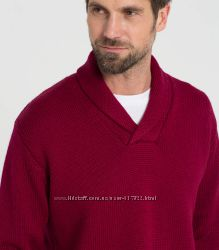 b00d2222cc3ed Свитер WOOLOVERS Mens Pure Wool Shawl Collar Jumper Burgundy - XL ...