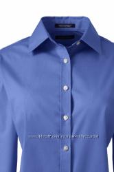 Блуза LANDSEND Women&acutes Regular Long Sleeve Poplin Straight Collar Work