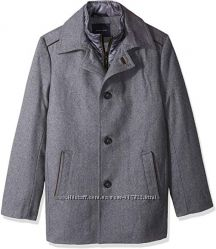Пальто Tommy Hilfiger Mens Briggs 32 Inch Top Coat with Quilted Bib