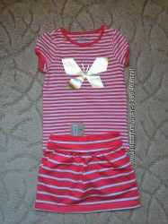 Комплект футболка и юбка Crazy8 размер 5-6 лет