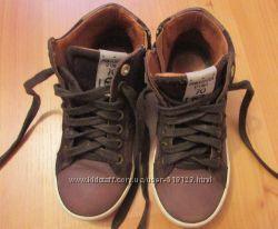 Демисезонные кожаные ботинки Pantofola d&acuteOro, стелька 19 см.