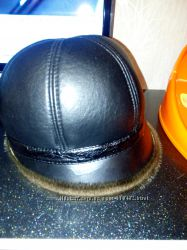 кожаная шапка