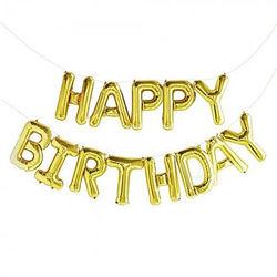 Фольгированные буквы Happy birthday