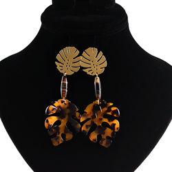 Дизайнерские серьги из натуральных камней с люкс фурнитурой