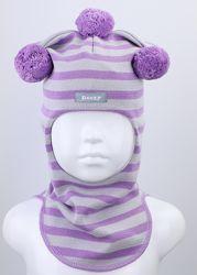 Шапка шлем ТМ Beezy демисезонный для девочек