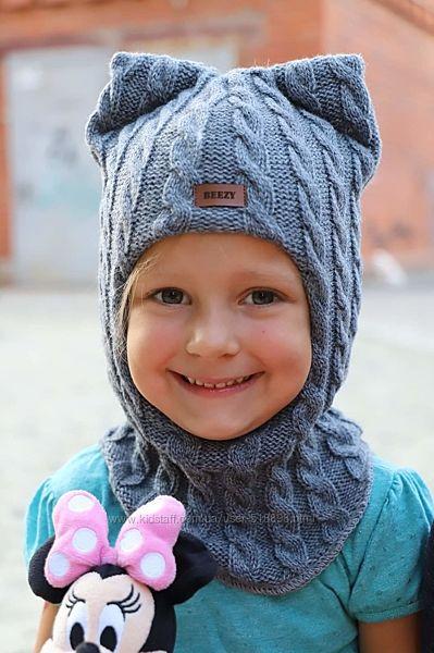 Детская шапка. beezy. Зима. Шапка-шлем