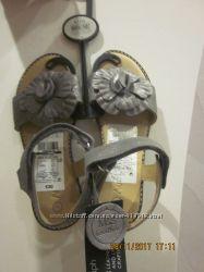 кожаные блестящие босоножки M&S