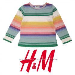 Джемпер веселка для дівчат 2-8 років від фірми H&M Швеція