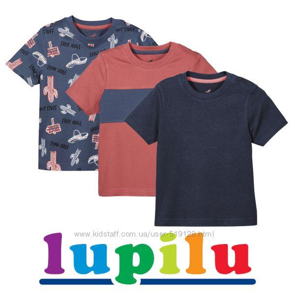Набори з 3-х футболок для хлопчиків 4-6 років фірми Lupilu Німеччина