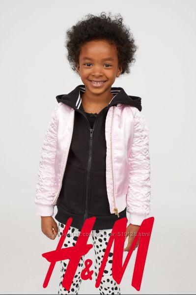 Легенька стьогана куртка для дівчат 1-5 років від H&M Швеція